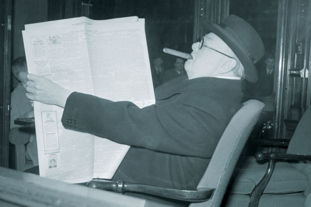 British politician Winston Churchill (1874 - 1965) during Election year