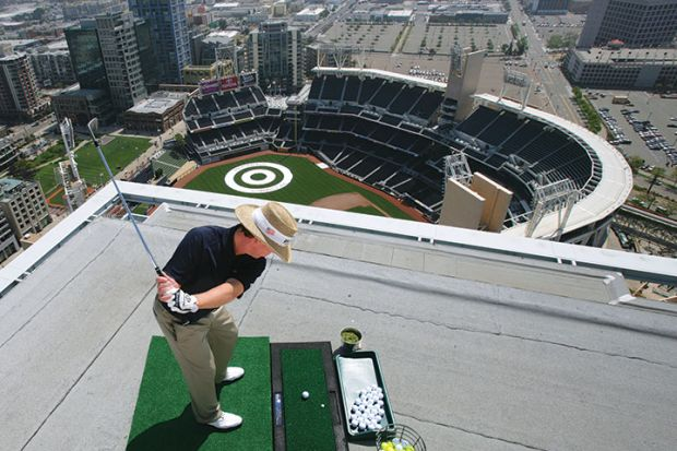 golf on rooftop