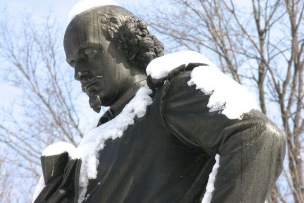 William Shakespeare statue in New York