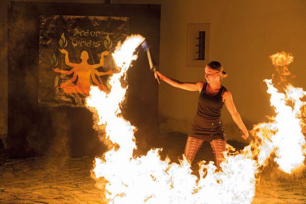 woman fire
