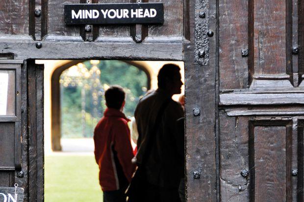 Wooden college door