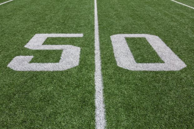 Yard Lines on a Football Field