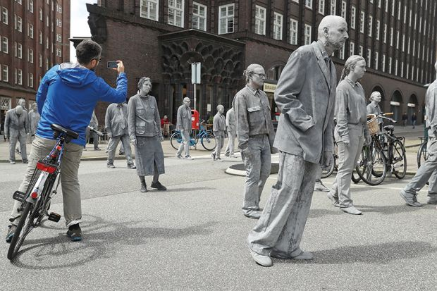 A group of grey zombies