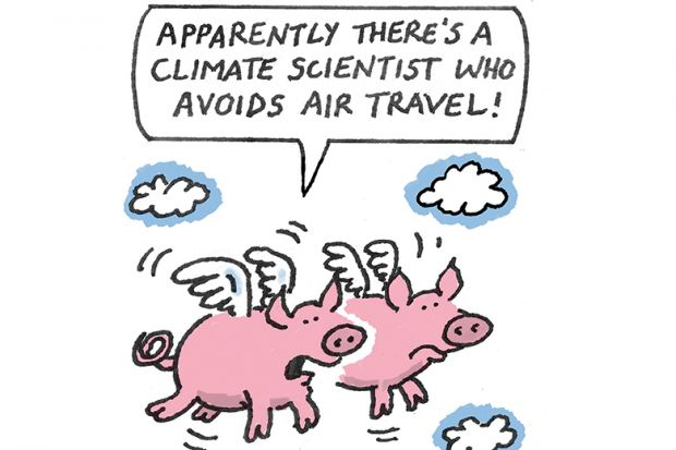 Cartoon of flying pigs