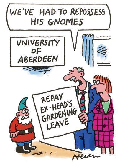 gardening leave cartoon