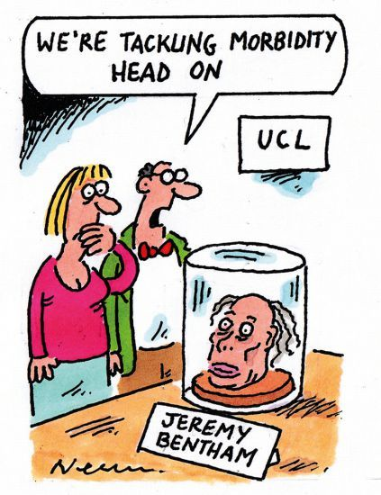 Jeremy Bentham cartoon