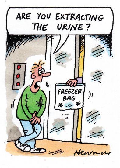 urine cartoon