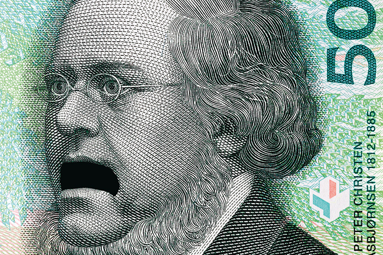 Surprised bank note