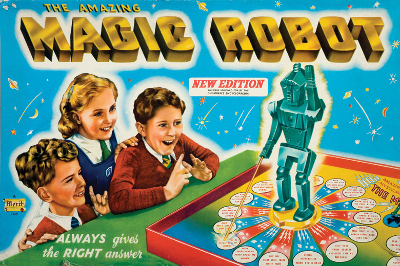 The Amazing Magic Robot board game packaging