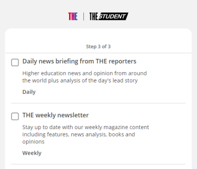 Image showing which newsletters to sign up for