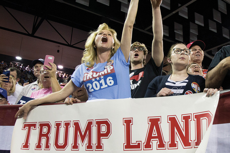 Trump Land supporters
