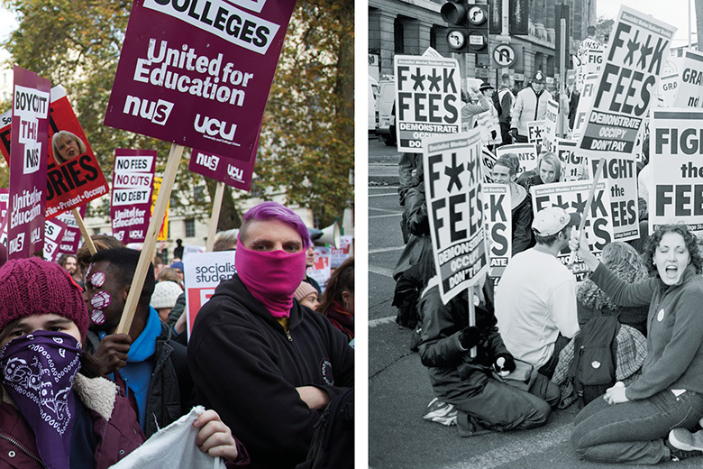 Tuition fees protests past and present