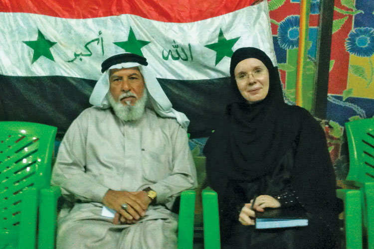 Victoria Fontan with Fallujah peace movement spokesman