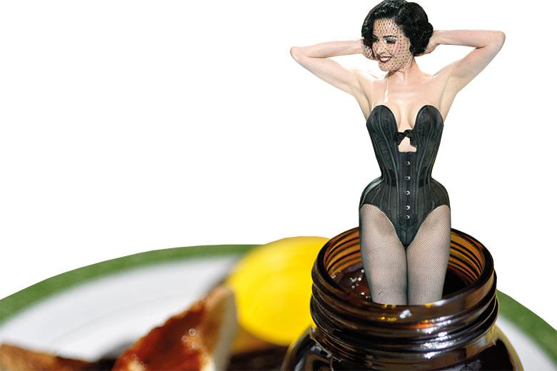 Woman in Marmite