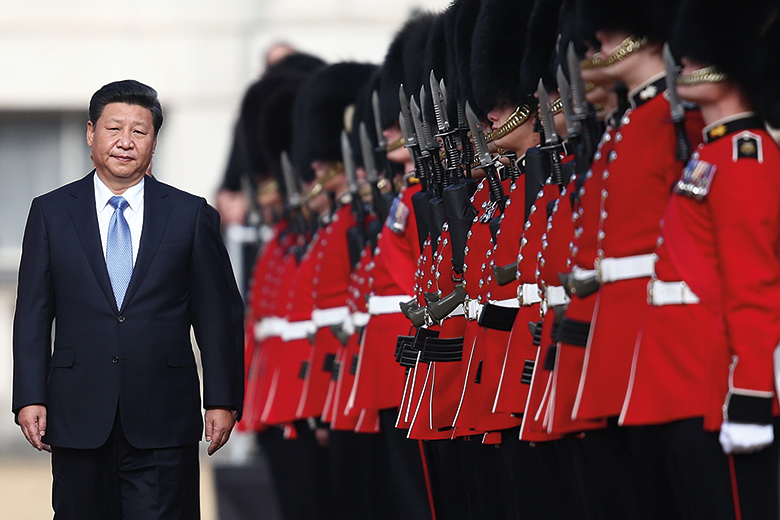 Chinese president Xi Jinping visits the UK